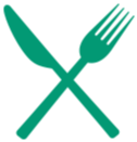 decorative fork and knife