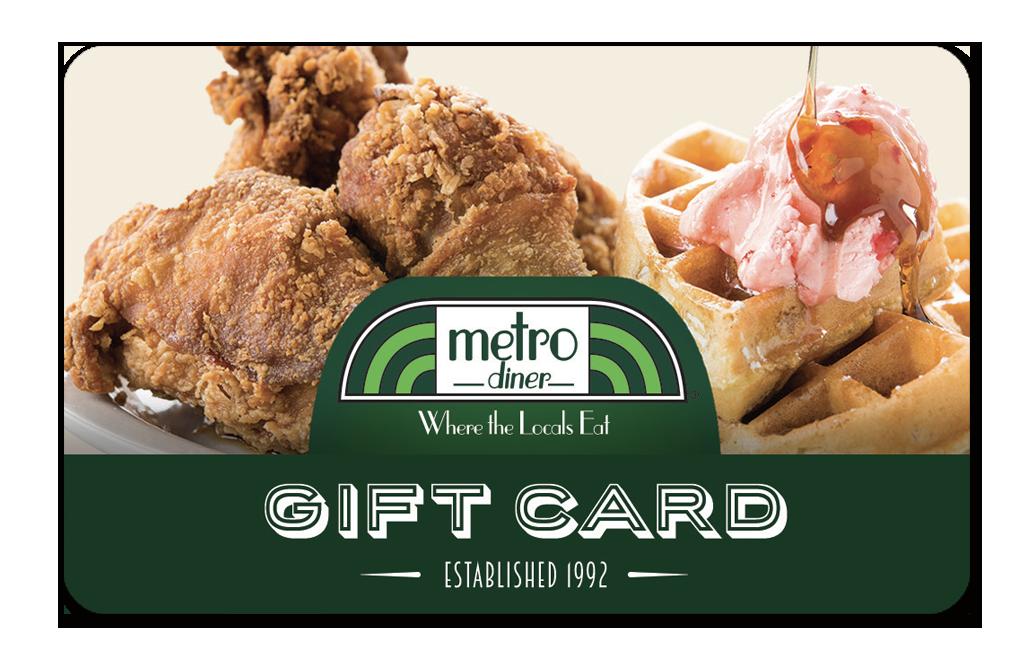 Metro Diner gift card design