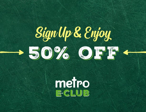 Sign up and enjoy 50% off