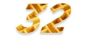 32 Waffle Holes
