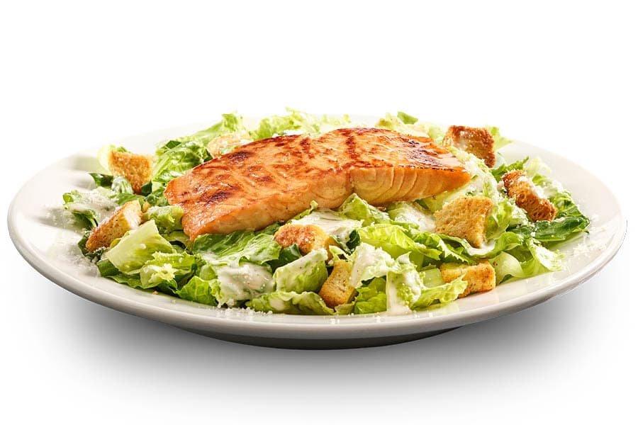 Citrus-Glazed Salmon Caesar Salad