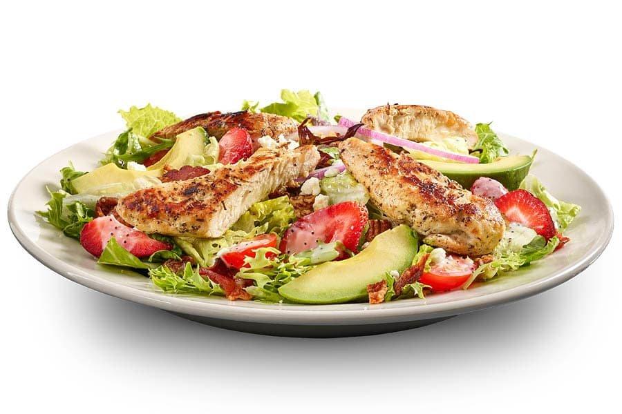 Grilled Chicken Avo Strawberry Salad