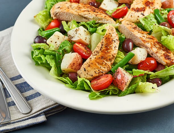 Seasonal Salad with Roasted Chicken